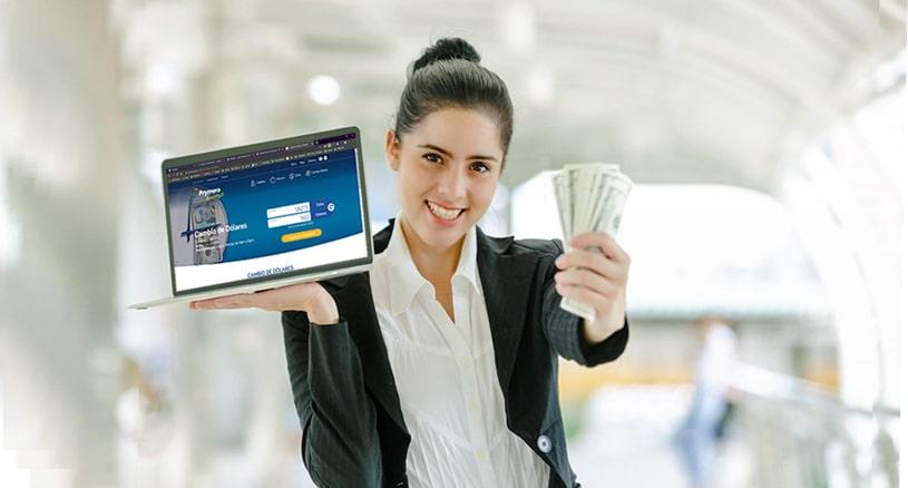 Compra y venta de dólares online